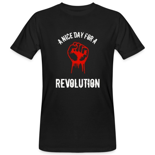 a nice day for a revolution - Men's Organic T-Shirt