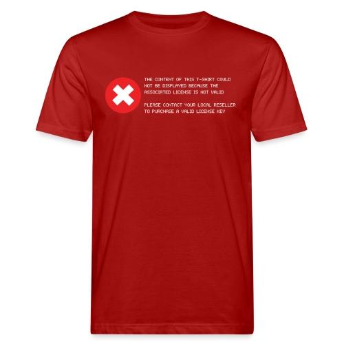 T-shirt Error - T-shirt ecologica da uomo