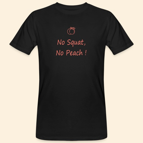 No squat, no peach corail - T-shirt bio Homme