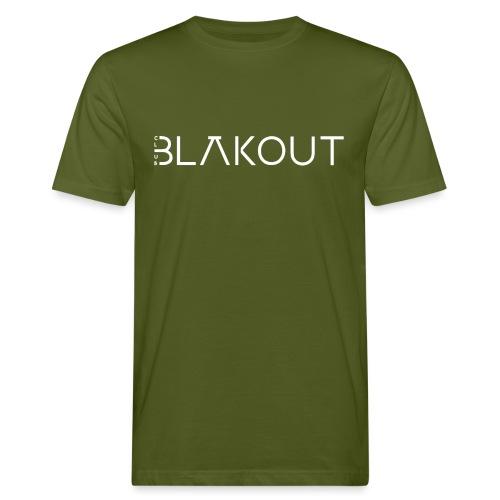 Bläkout -logo valkoinen - Miesten luonnonmukainen t-paita