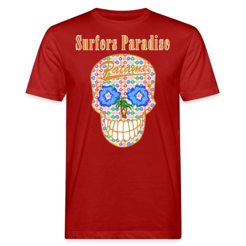 Patame Surfers Paradise Skull Orange - Männer Bio-T-Shirt