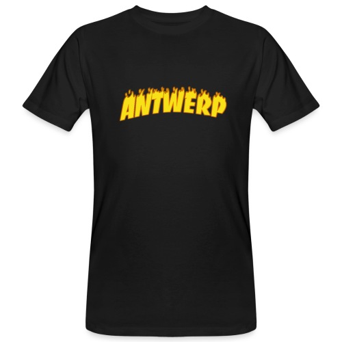 Antwerp T-Shirt Black (Flame logo) - Mannen Bio-T-shirt