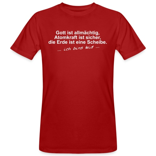 gottistallmaechtig - Männer Bio-T-Shirt