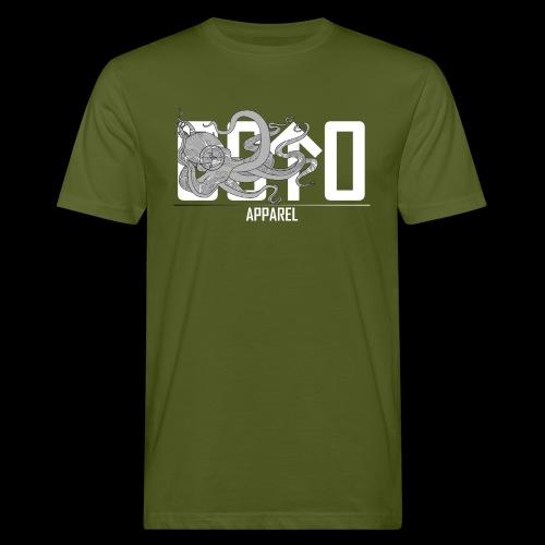 OctoApparel Logo weiss - Männer Bio-T-Shirt