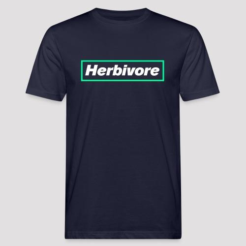 Herbivore Logo White - T-shirt ecologica da uomo