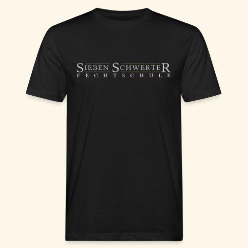 Fechtschule Schriftzug hell - Männer Bio-T-Shirt