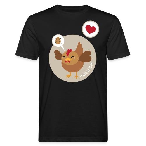 I love Vegans - Mannen Bio-T-shirt