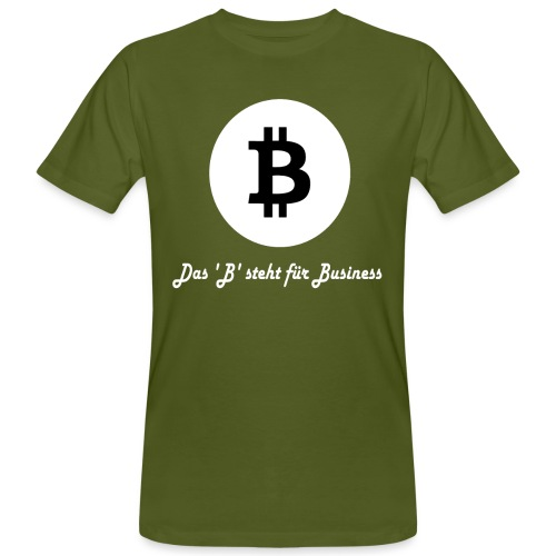 Das B steht fuer Business weiss - Männer Bio-T-Shirt