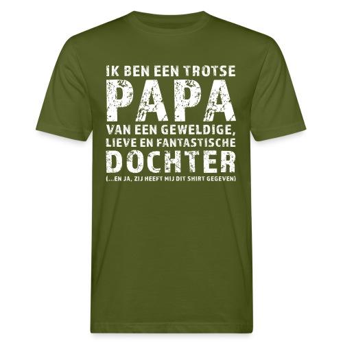 Trotse Papa - Mannen Bio-T-shirt
