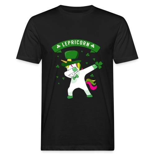 Lepricorn - St. patricks Day Unicorn dab pose - Männer Bio-T-Shirt