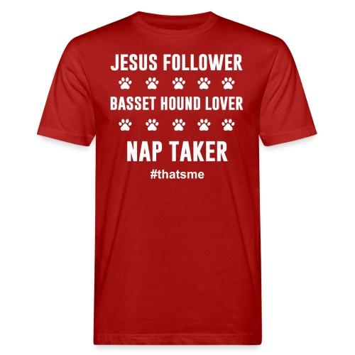 Jesus follower Basset hound lover nap taker - Men's Organic T-Shirt