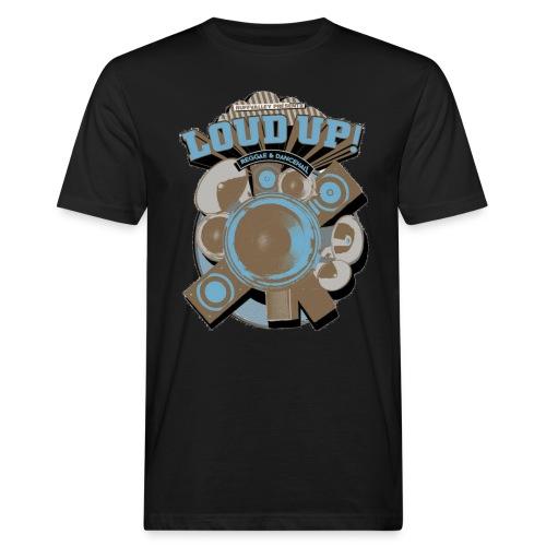 Tshirt Loudup1 brown blue png - Männer Bio-T-Shirt