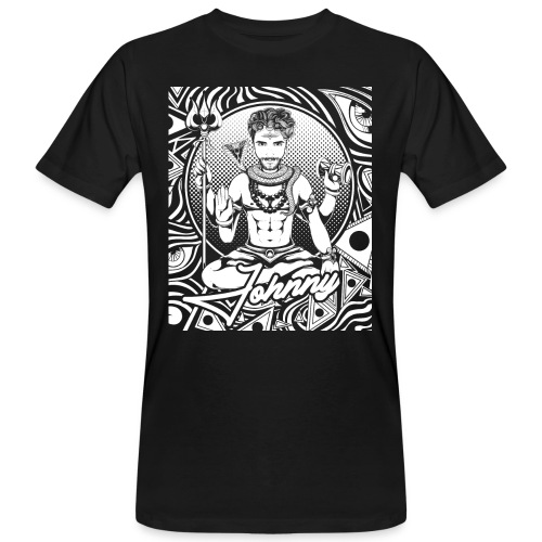 Psychedelisches Psychedelic Niko Johnny Line Shirt - Männer Bio-T-Shirt