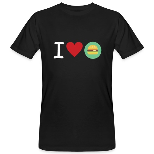 Amor de hamburguesa - Camiseta ecológica hombre