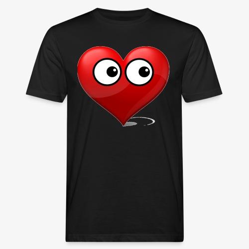 cœur avec yeux - T-shirt bio Homme