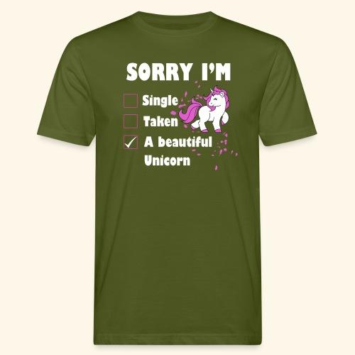 lustiges Beziehung Einhorn T-Shirt - Männer Bio-T-Shirt