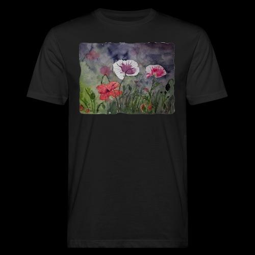 Mohnblume - Männer Bio-T-Shirt