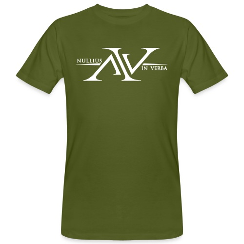 Nullius In Verba Logo - Men's Organic T-Shirt