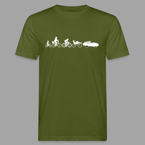 Bicycle evolution white - Miesten luonnonmukainen t-paita