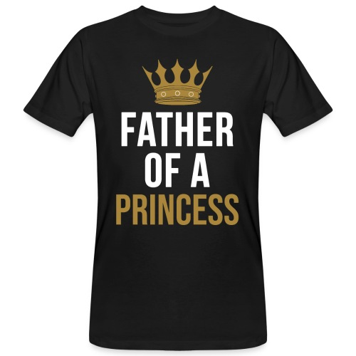Father of a Princess Vater Sohn partnerlook - Männer Bio-T-Shirt