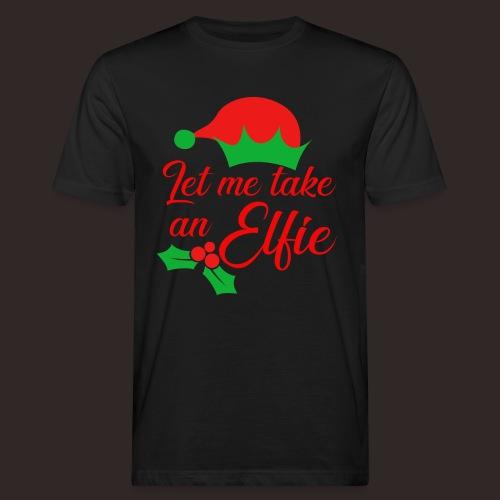 Weihnachten   Elf Mütze Weihnachtself Wortspiel - Männer Bio-T-Shirt