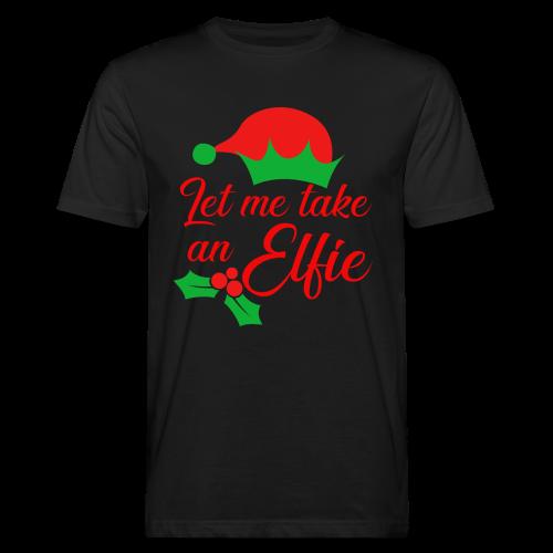 Weihnachten | Elf Mütze Weihnachtself Wortspiel - Männer Bio-T-Shirt