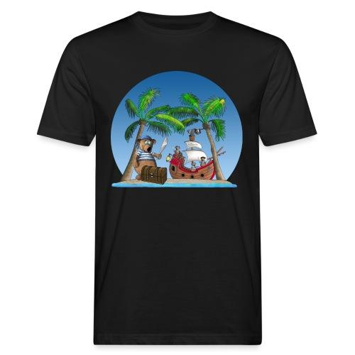Pirat - Piratenschiff - Schatzinsel - Männer Bio-T-Shirt
