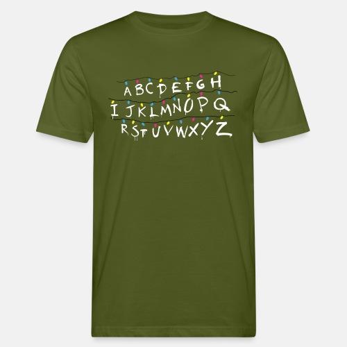 Stranger Things Alphabet - Men's Organic T-Shirt