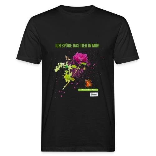 Ich spüre das Tier in mir Es ist ein Schmetterling - Männer Bio-T-Shirt