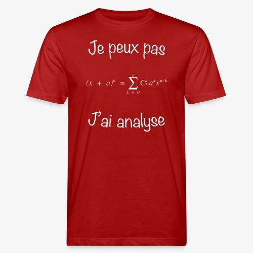 Je peux pas, j'ai analyse - Männer Bio-T-Shirt