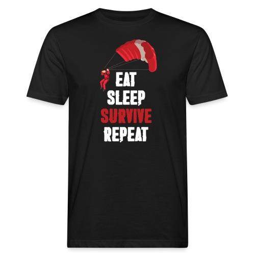 Eat - sleep - SURVIVE - repeat! - Ekologiczna koszulka męska