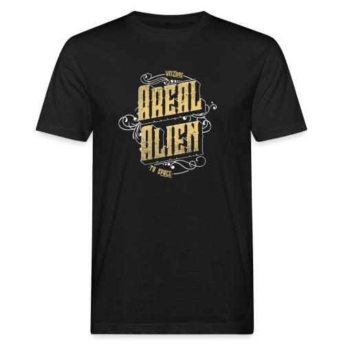 Areal Alien Vintage logo - Økologisk T-skjorte for menn