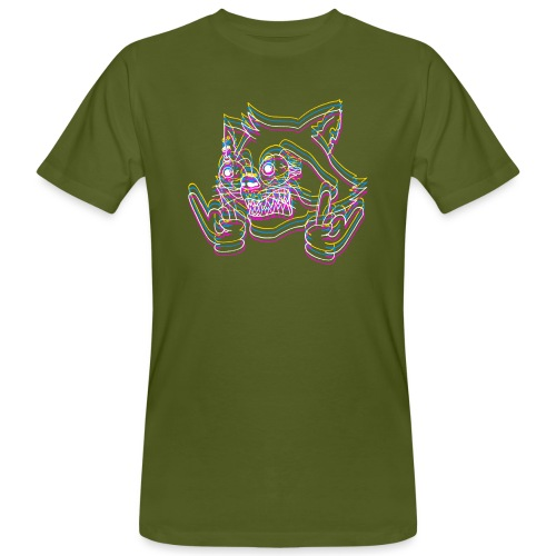 crazyraccoon_white - Männer Bio-T-Shirt