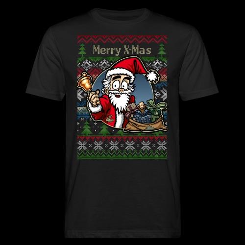 Merry X-Mas Weihnachtsmann - Männer Bio-T-Shirt