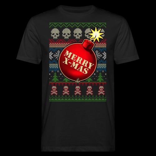 Merry X-Mas Christbaumkugel-Bombe - Männer Bio-T-Shirt