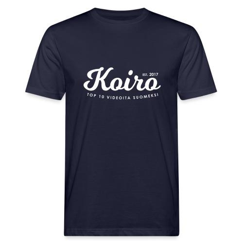 Koiro - Valkoinen Teksti - Miesten luonnonmukainen t-paita