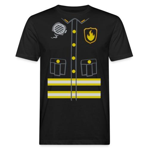 Kids Fireman Costume - Dark edition - Men's Organic T-Shirt