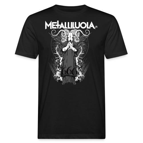 Metalliluola logo ja Demoniac 666 - Miesten luonnonmukainen t-paita