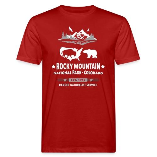 Rocky Mountain Nationalpark Berg Bison Grizzly Bär - Men's Organic T-Shirt