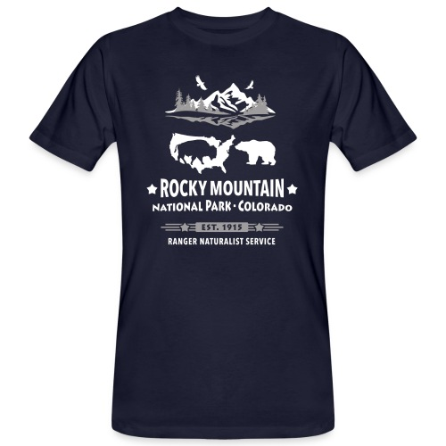 Rocky Mountain Nationalpark Berg Bison Grizzly Bär - Men's Organic T-Shirt