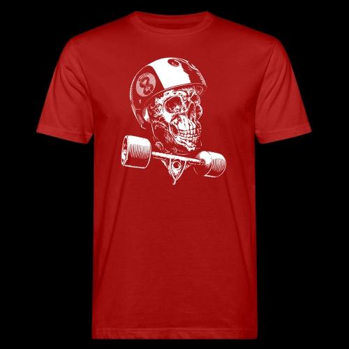 Skull Longboard Rider - negative print - T-shirt bio Homme