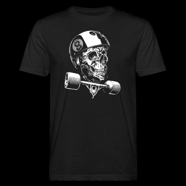 Skull Longboard Rider - negative print