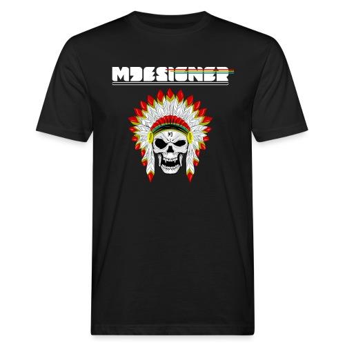 calavera o craneo con penacho de plumas vampiresco - Camiseta ecológica hombre
