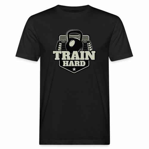 Train Hard - Männer Bio-T-Shirt