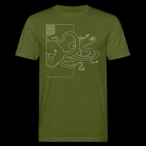 Tintenfisch-Logo Weiss - Männer Bio-T-Shirt