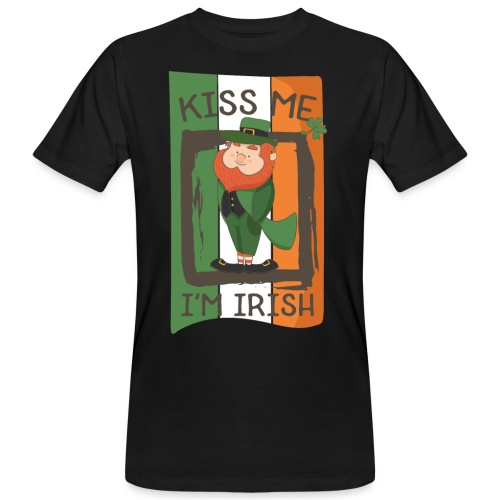 St. Patrick's Day Leprechaun - I'm Irish - Kiss Me - Men's Organic T-Shirt