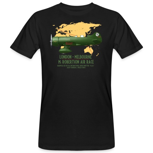 Gee Bee QED McRobertson race London-Melbourne 1934 - Men's Organic T-Shirt