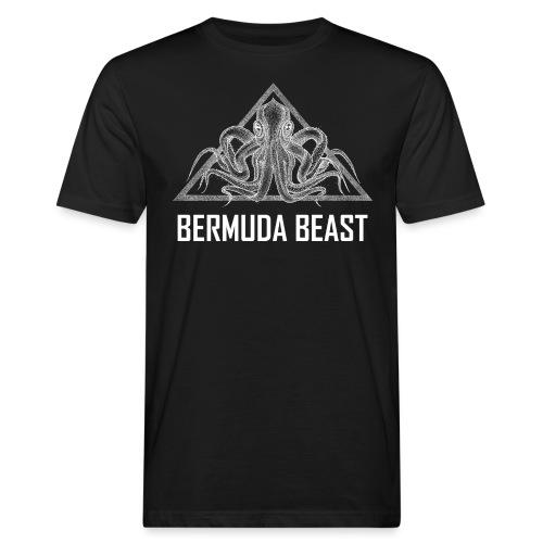 real beast weiß - Männer Bio-T-Shirt