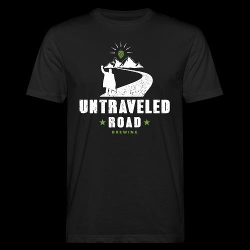 Untraveled Road Logo - weiß - Männer Bio-T-Shirt