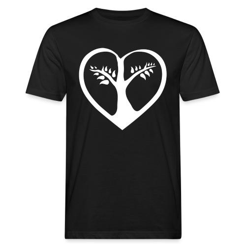 chooselove qu 1c symbol weiß png - Männer Bio-T-Shirt